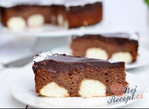 Čokoládový tečkovaný dort