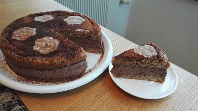 Zdravý arašídový dort bez mouky